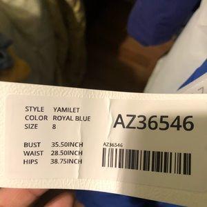 Azazie Dresses - Royal blue dress size 8 azazie
